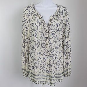 Lucky Brand long sleeve tunic blouse off white